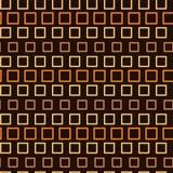 Teste padrão sem emenda abstrato, textura infinita de quadrados alaranjados no fundo escuro Fotografia de Stock Royalty Free