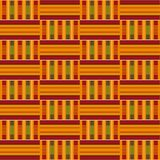 Teste padrão sem emenda africano Kente de pano Cópia tribal ilustração royalty free