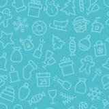 Teste padrão sem emenda ajustado do ícone do Natal Fotografia de Stock
