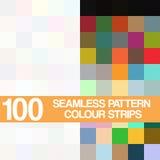 Teste padrão sem emenda ajustado, tiras de cor no fundo branco Fotografia de Stock