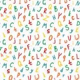 Teste padrão sem emenda alfabético, teste padrão preto e branco do ABC ilustração do vetor