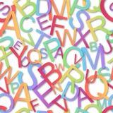 Teste padrão sem emenda, alfabeto colorido Imagens de Stock Royalty Free