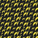 Teste padrão sem emenda amarelo preto do fundo ilustração stock