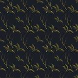 Teste padrão sem emenda amarelo preto do fundo ilustração royalty free