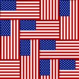 Teste padrão sem emenda americano Fotos de Stock