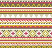 Teste padrão sem emenda asteca étnico Fotos de Stock Royalty Free