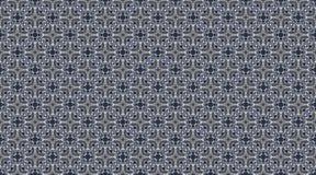 Teste padrão sem emenda azul calidoscópico Fotos de Stock Royalty Free