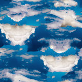 Teste padrão sem emenda azul celestial abstrato Fundo de Skiey fotos de stock