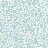 Teste padrão sem emenda azul com folhas Foto de Stock Royalty Free