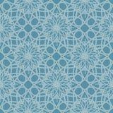 Teste padrão sem emenda azul frio reminiscente do vidro congelado Fundo geométrico do ornamento abstrato Fotografia de Stock Royalty Free