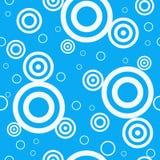 Teste padrão sem emenda azul retro do projeto Fotografia de Stock
