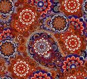 Teste padrão sem emenda baseado em elementos asiáticos tradicionais Paisley Imagem de Stock