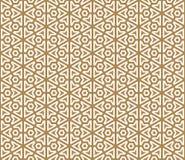 Teste padrão sem emenda baseado no ornamento japonês Kumiko Foto de Stock Royalty Free