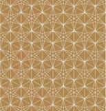 Teste padrão sem emenda baseado no ornamento japonês Kumiko imagem de stock