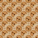 Teste padrão sem emenda bege com cookies ilustração do vetor