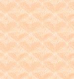 Teste padrão sem emenda bege com corações lineares. Textura decorativa da rede ilustração royalty free