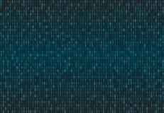 Teste padrão sem emenda binário do código de computador Fundo da matriz com dígitos 1 Imagens de Stock Royalty Free