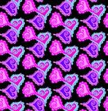 Teste padrão sem emenda bonito bonito com corações Imagem de Stock Royalty Free