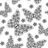 Teste padrão sem emenda bonito com borboletas Imagem de Stock Royalty Free