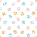 Teste padrão sem emenda bonito com cópias da pata Fundo animal Imagem de Stock Royalty Free