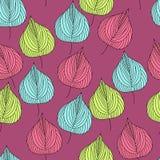 Teste padrão sem emenda bonito com folhas de outono foto de stock
