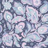 Teste padrão sem emenda bonito da folha floral Fotos de Stock Royalty Free