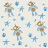 Teste padrão sem emenda bonito de brinquedos do bebê ilustração royalty free