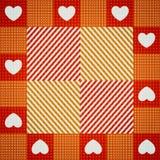 Teste padrão sem emenda bonito do ` s do Valentim com corações Ilustração do Vetor
