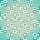Teste padrão sem emenda bonito do ` s do Valentim com corações Ilustração Royalty Free