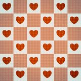 Teste padrão sem emenda bonito do ` s do Valentim com corações Ilustração Stock