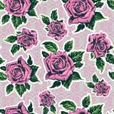 Teste padrão sem emenda bonito nas rosas Fotos de Stock