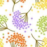 Teste padrão sem emenda bonito simples com a flor pequena colorida no fundo branco Imagem de Stock Royalty Free