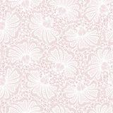 Teste padrão sem emenda branco do laço da flor Foto de Stock Royalty Free