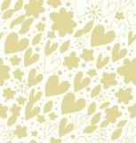 Teste padrão sem emenda brilhante abstrato com muitos detalhes bonitos. Fundo decorativo da garatuja com corações e flores ilustração do vetor