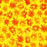 Teste padrão sem emenda brilhante com flashes e manchas pintados ilustração royalty free