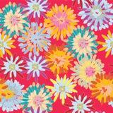 Teste padrão sem emenda brilhante com flores grandes Foto de Stock