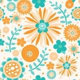 Teste padrão sem emenda brilhante das flores ilustração stock