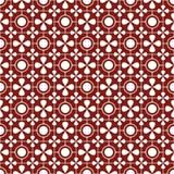 Teste padrão sem emenda brilhante dos círculos e das pétalas VERMELHO E BRANCO Imagens de Stock Royalty Free
