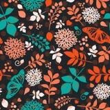 Teste padrão sem emenda brilhante floral com flores ilustração royalty free