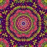 Teste padrão sem emenda brilhante no estilo de paisley Imagem de Stock Royalty Free