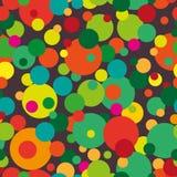 Teste padrão sem emenda círculos Multi-coloridos sobre Imagens de Stock Royalty Free