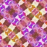Teste padrão sem emenda calidoscópico abstraia o fundo Imagens de Stock Royalty Free