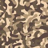 Teste padrão sem emenda camuflar Teste padrão elegante da camuflagem Cópia de Millatry Papel de parede sem emenda do vetor ilustração royalty free