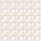 Teste padrão sem emenda chave cor-de-rosa antigo da repetição do vintage ilustração royalty free