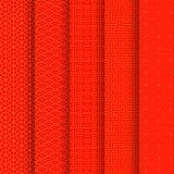Teste padrão sem emenda chinês ajustado Fundo tradicional chin?s vermelho e dourado do ornamento Ilustra??o do vetor ilustração stock