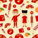 Teste padrão sem emenda chinês do ano novo ilustração royalty free