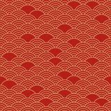 Teste padrão sem emenda chinês vermelho Ilustração do vetor ilustração stock