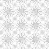 Teste padrão sem emenda cinzento com flores estilizados ilustração stock