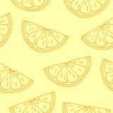 Teste padrão sem emenda Citrino no fundo amarelo Imagens de Stock Royalty Free