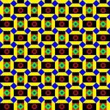 Teste padrão africano Funky Ilustração do Vetor